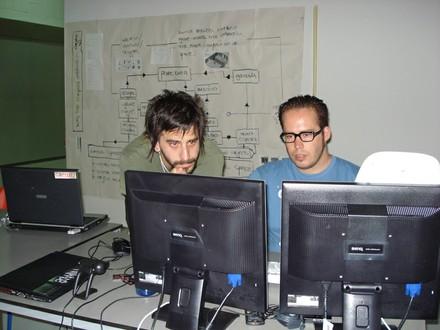 Emanuele Mazza y Walter trabajando con Gamuza - small